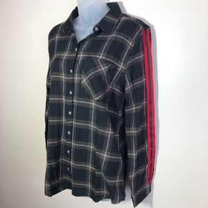 NWT Large Plaid Button Down Flannel Top
